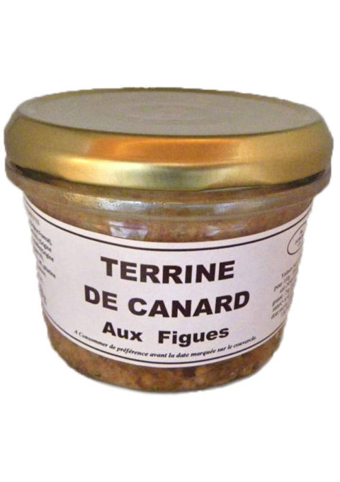 Duck's Terrine with figs Verrine