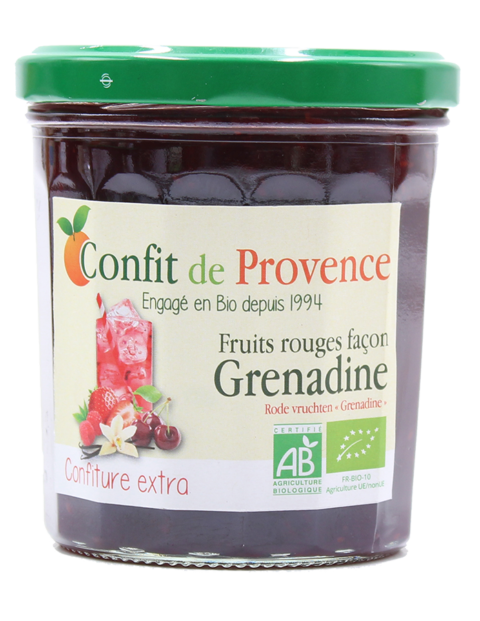 Confiture BIO Extra de Fruits Rouges façon Grenadine - Confit de Provence